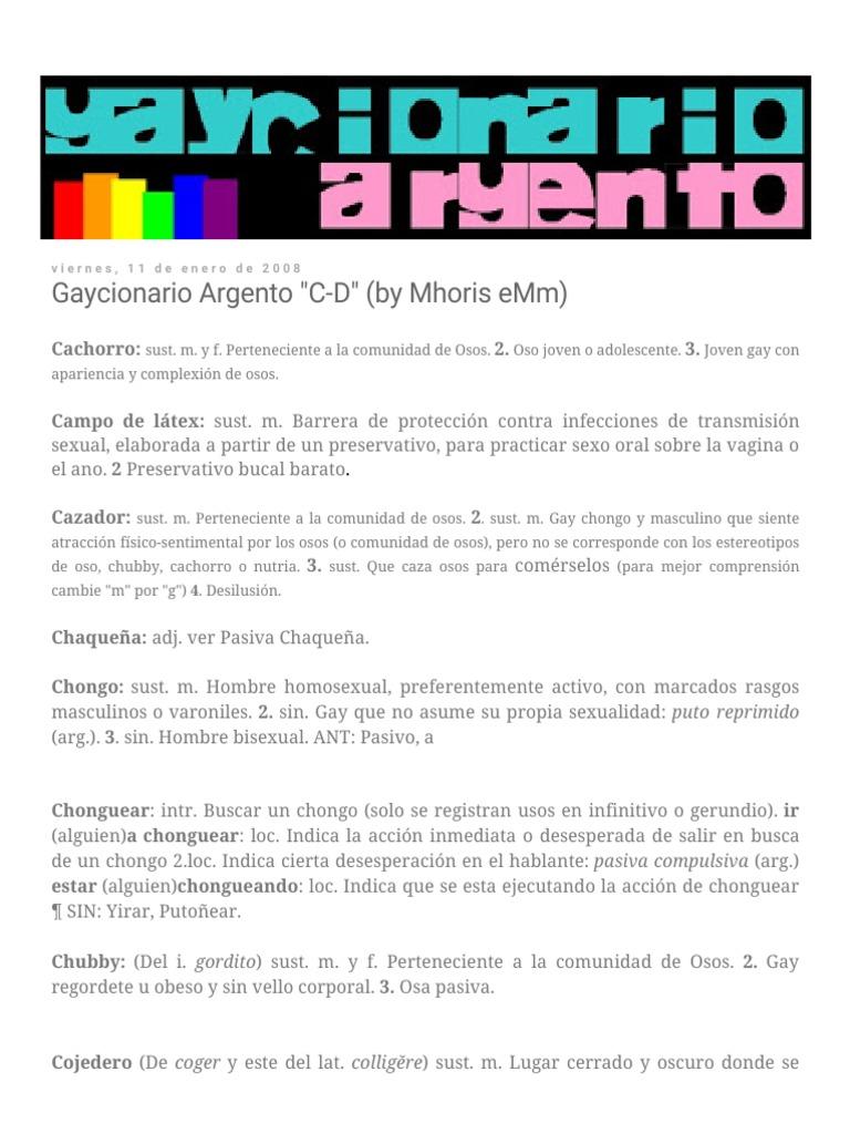 Adolescentes Gorditos Gay Porn gaycionario argento c-d (by mhoris emm).pdf | sexualidad