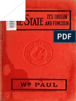 The State Its Origin and Function - WM. PAUL.