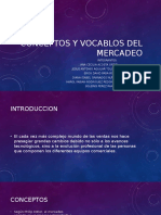 Conceptos y Vocablos Del Mercadeo