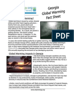 Georgia Global Warming Fact Sheet