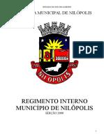 Regimento Interno da Câmara Municipal de Nilópolis