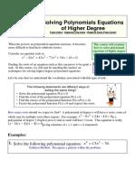 Solving Higher Order Polynomials