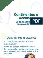 Continentes e Oceanos 1