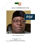 The Departure of AbdulRasheed Yesufu