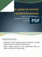 2. Desarrollo Puberal Normal y Pubertad Precoz