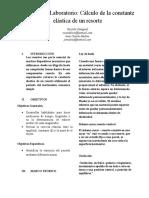 Informe de laboratorio física