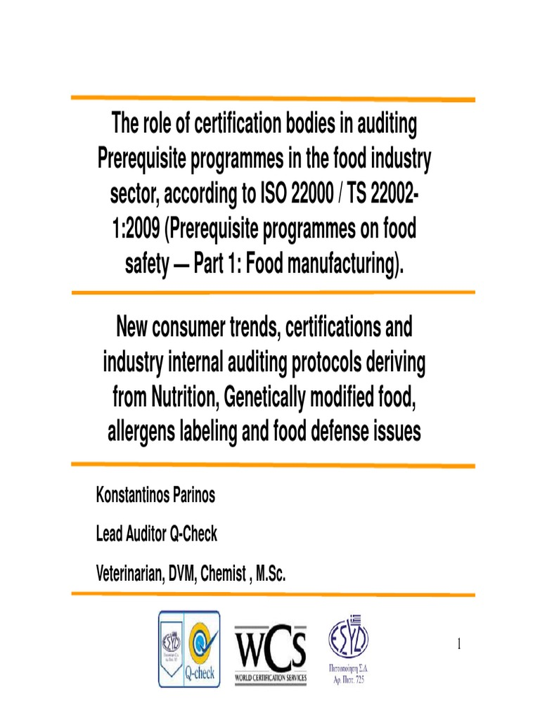 PARINOS- Q CHECK CERTIFICATION(1) pdf | Food And Drink