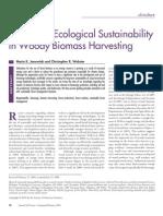 Janowiak Webster 2010 Bioenergy Ecological Sustainability