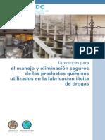 Disposicion de Quimicos Para La Fabricacion de Sustancias Ilicitas