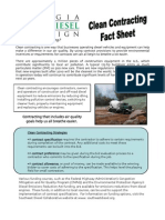 Diesel Learn Clean Contracting Fact Sheet
