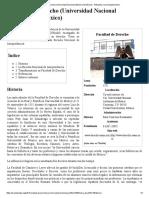 Facultad de Derecho (Universidad Nacional Autónoma de México) - Wikipedia, La Enciclopedia Libre
