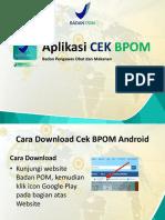 Aplikasi Cek BPOM Cara Pengunaan