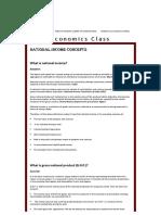 National Income Concepts - Economics Class
