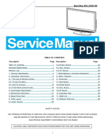 Insignia-tpv - Service Manual - Ns-lcd37-09, Tpv Models e378aznkw1bcnn and e378aznkw1bynn, Revis