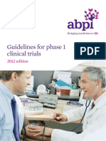 Guidelines Phase1 Clinical Trials