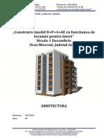Memoriu Tehnic Arhitectura Pt