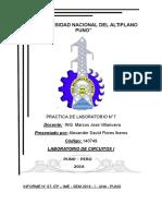 Informe 07 Lab Circuitos I