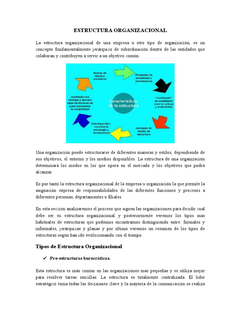 Estructura Organizacional 1 Burocracia Marketing