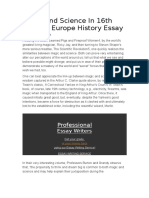 Magic and Science in 16th Century Europe History Essay