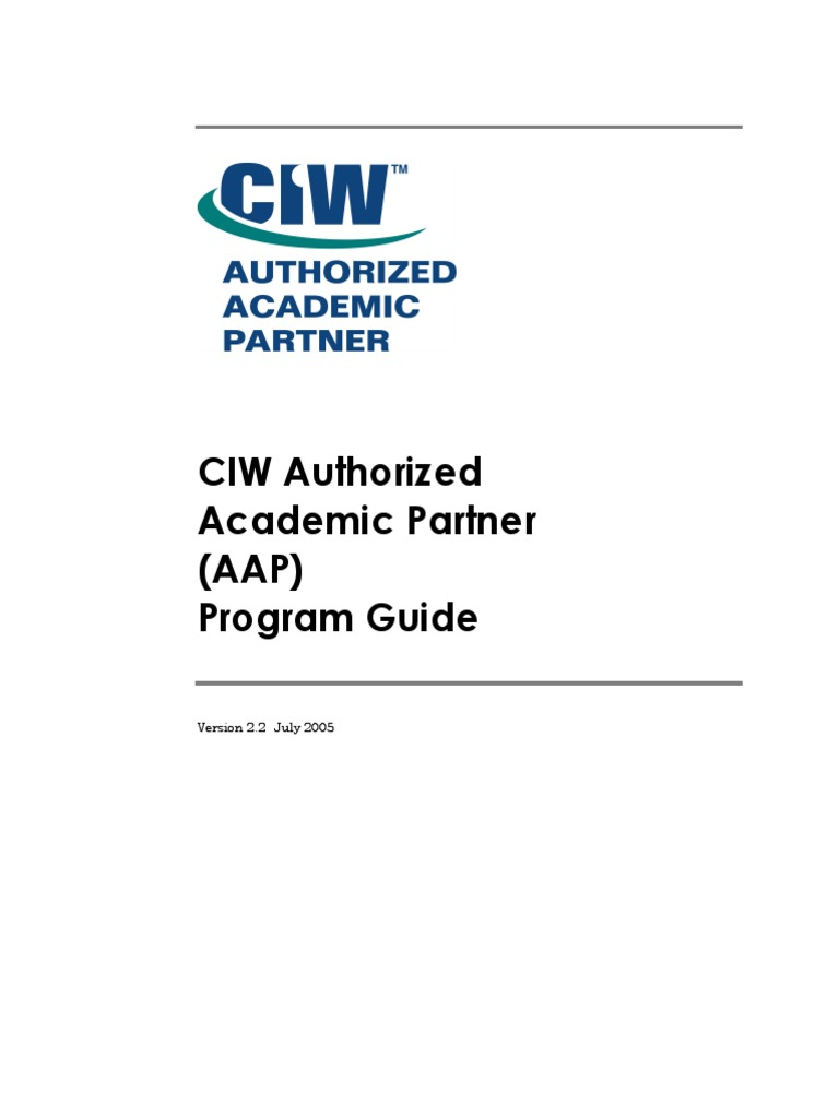 Ciw program guide professional certification test assessment 1betcityfo Images