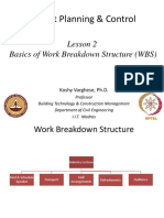 Week2_Lesson 2. Basics of Work Breakdown Structure (WBS)