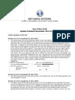 Key-Data Gold- Update Schedule November 2014 to Present