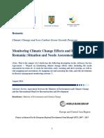 OPERA-CLIMA a Raport A2.2 Monitorizare Efecte Si Riscuri Climatice En