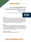 Artes visuales y tecnologia digital como instrumentos de innovacion en la educacion escolar.