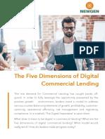 The Five Dimensions of Digital Commercial Lending - www.newgensoft.com