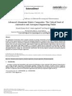 Advanced Aluminium Matrix CompositesThe Critical Need Of
