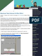 Tutorial Dan Belajar Adobe After Effect (AE)
