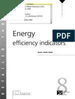 Energy Efficiency Indicators