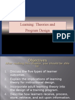 Learning - Theories and Program Design - PPT 4