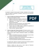 Documento del PP para la negociación de un Gobierno con PSOE y Ciudadanos