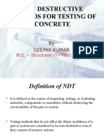 Non Destructive Methods for Testing of Concrete