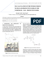 Research Regarding Calculation of the Tensile Forces of Polyurethane Film and Protective Paper, In the Process of Polyurethane – Pad – Protective Paper. - Copy (2)