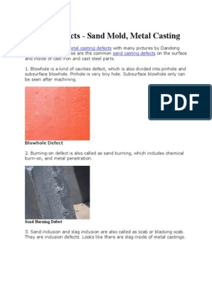 in process defects type pdfs casting sand file