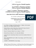 United States v. William Thomas O'neill, United States of America v. James v. O'neill, United States of America v. Alma Dale Mallard, 767 F.2d 780, 11th Cir. (1985)