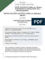 In Re South Atlantic Financial Corp., Etc., Debtors. Biscayne 21 Condominium Association, Inc. v. South Atlantic Financial Corp., Etc., 767 F.2d 814, 11th Cir. (1985)