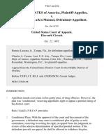 United States v. Felix Juan, A/K/A Manuel, 776 F.2d 256, 11th Cir. (1985)