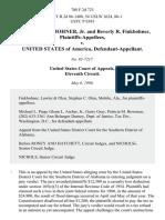 George W. Finkbohner, Jr. And Beverly R. Finkbohner v. United States, 788 F.2d 723, 11th Cir. (1986)