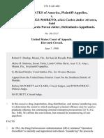 United States v. Jose Jader Alvarez-Moreno, A/K/A Carlos Jader Alvarez, Said Pavon Jatter, Ricardo Pavon Jatter, 874 F.2d 1402, 11th Cir. (1989)
