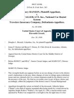 William Henry Hanson v. Ralph Stanley Waller, Lvl Inc., National Car Rental System Travelers Insurance Company, 888 F.2d 806, 11th Cir. (1989)