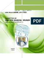 Internship report on MCB