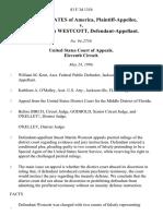 United States v. Wescott, 83 F.3d 1354, 11th Cir. (1996)