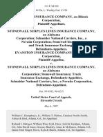 Evanston Ins. v. Stonewall Surplus, 111 F.3d 852, 11th Cir. (1997)