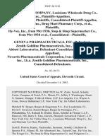 Valley Drug v. Geneva Pharmaceuticals, 350 F.3d 1181, 11th Cir. (2003)