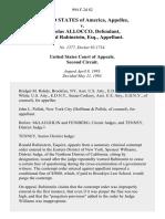 United States v. Nicholas Allocco, Ronald Rubinstein, Esq., 994 F.2d 82, 2d Cir. (1993)