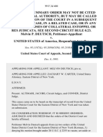 Melvin P. Deutsch v. United States, 99 F.3d 400, 2d Cir. (1995)
