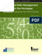 Anatomy of Risk Management Practices in the Mortgage Industry - Lessons for the Future
